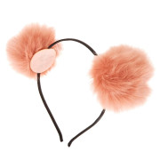 Ombre pom pom haarband - pfirsich