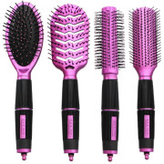 Hair Brush Kit 4 set - Salon Professional - Pink