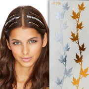 Flash Hair Tattoo - Gold & Silber, HT208