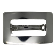 SOHO® Rectangle Metal Hair Clip - Silber