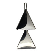 SOHO® Triangles Metal Hair Clip - Silber