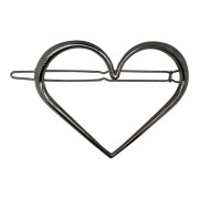 SOHO® Heart XL Metal Hair Clip - Silber