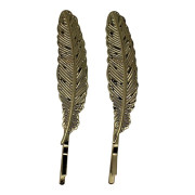SOHO® Feather Bobby Pin 2 pcs - Gold