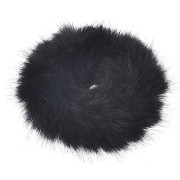 Hair Elastic with Fur - Faux Scrunchie, Black
