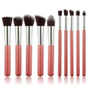 PRO Makeup Brushes Rosa / Silber - 10 pcs
