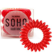 SOHO® Spiral Hair Ring Elastics, Strawberry Red - 3 pcs