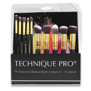 Technique PRO® Makeup Brushes, Gold edition - 10 pcs