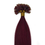 50 cm Hot Fusion Haar Extensions Rot 33#