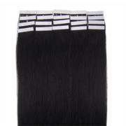 60 cm Tape On Extensions Haartressen Schwarz 1#