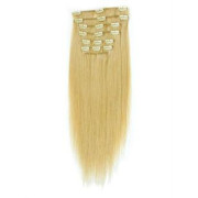 7-teiliges Kunsthaar Extensions Set Blond 613#