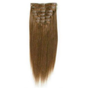 Clip In Extensions 50 cm #6 Hellbraun